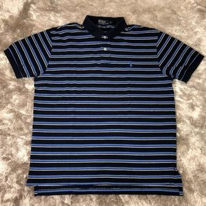 Vintage POLO Ralph Lauren Blue Black Striped Polo